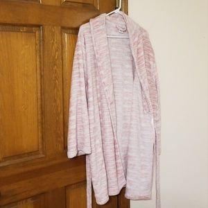 Plush size L/XL Capelli Mid long sleeve robe, pink